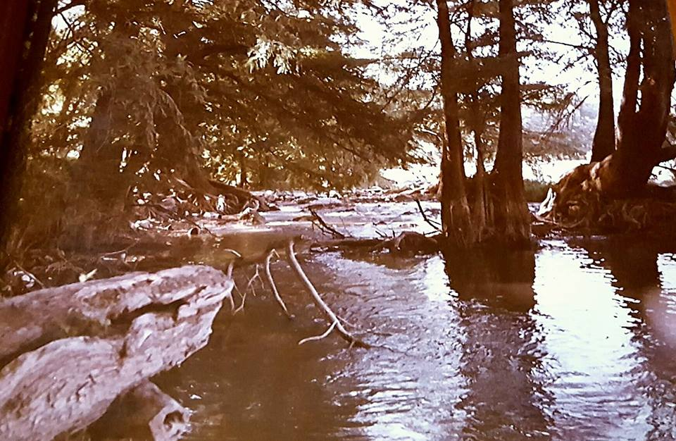 """""""Summers going to Garner State Park. I went in high school with the cheerleaders and football team and then with family once I was married. This picture from 1980. The water was always beautiful, cool, refreshing and inviting! It still is, too!"""" -Phyllis Russell"""